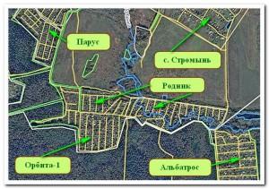 Схема с улицами